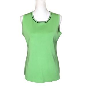 Misook lime green shell  tank top